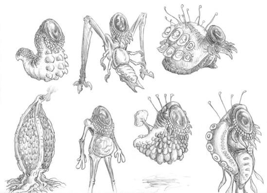 Invertebrados sempre ajudam quando queremos criar aliens.
