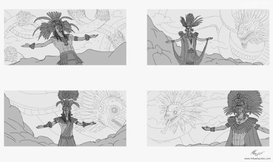 quetzalcoatl-sketches