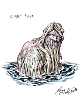 Barba-Ruiva/Red Beard, a character from brazilian folklore. An abandoned baby in a lake, he became an enchated being with red hair that comes sometimes out of the water. It is said to be neutral and to live in a lake in northeastern Brazil.